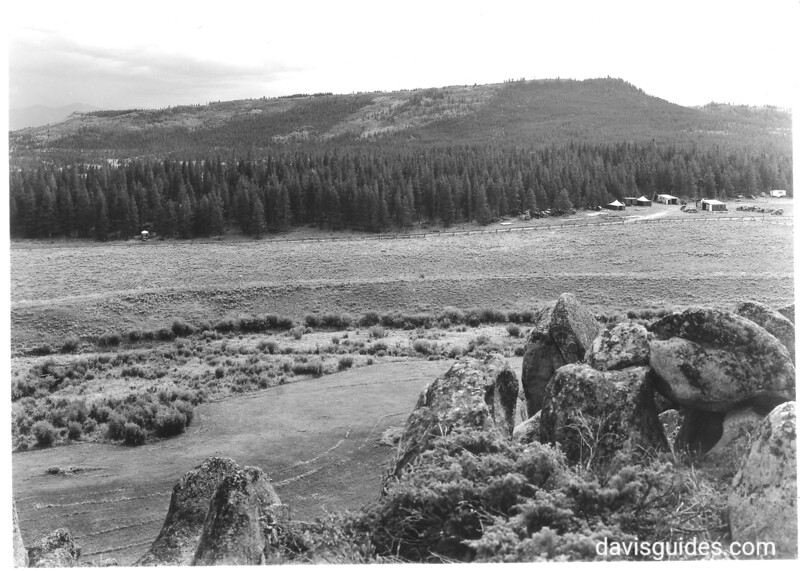 View from a point northwest of Stillwater, Colorado, showing the basin that will be covered by the Granby Reservoir. In the distance is Table Mountain. Rocky Mountain National Park, 1938.
