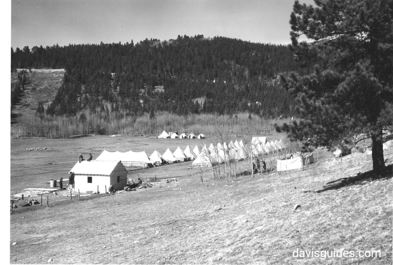 First Little Horseshoe CCC tent camp. Rocky Mountain National Park, 1933.