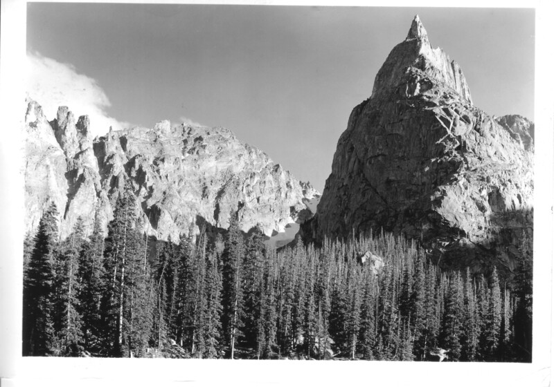 Lindbergh Peak from Crater Lake. Rocky Mountain National Park, 1938.