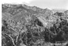 From Lookout point south of Hume Lake looking at Tehipite Dome (Right) on north side of Middle Fork of Kings River Canyon. Sequoia and Kings Canyon National Parks, 1940.