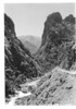 Windy cliff on South Fork of Kings River. Sequoia and Kings Canyon National Parks, 1940.