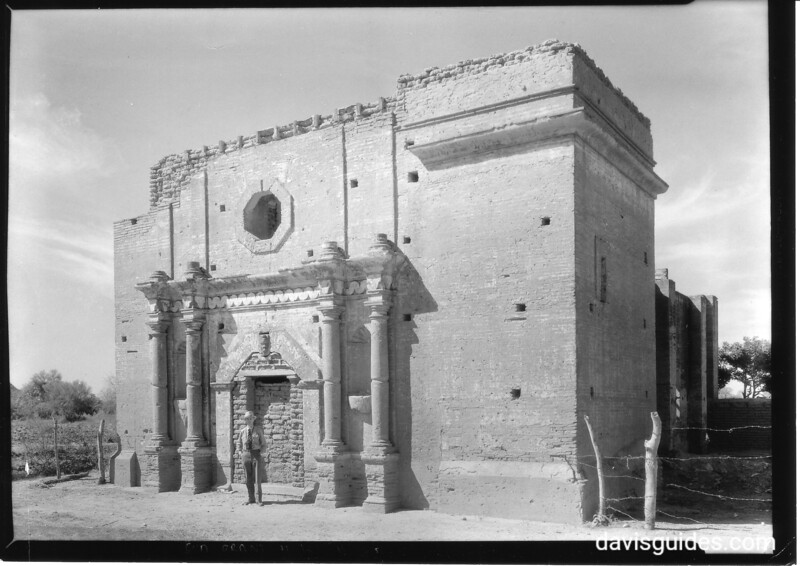 Ruins of a mission church outside Hermosillo, Mexico. Sonora Missions Expedition, 1935.