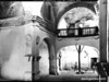 Nave of Mission San Pedro y Pablo de Tubutama, looking east toward narthex and choir loft. Sonora Missions Expedition, 1935.