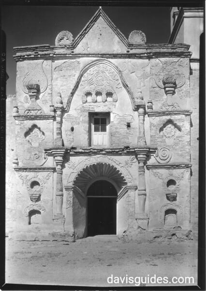 Front façade of Mission San Pedro y San Pablo de Tubutama. Sonora Missions Expedition, 1935.