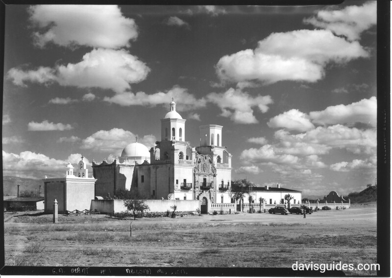 Mission San Xavier del Bac. This image was included in Sonora Missions Expedition materials but likely dates to early 1950s.