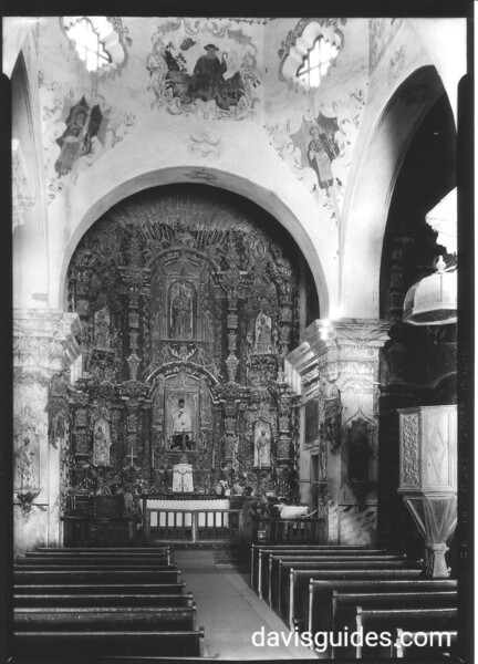 Altar in Mission San Xavier del Bac. Sonora Mission Expedition, 1935.