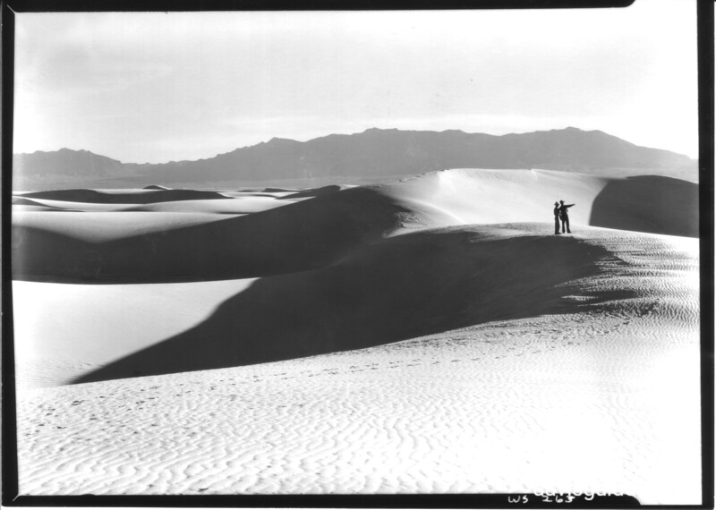 The White Sands and San Andreas Mountains. White Sands National Monument, 1940.