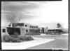 Visitor Center and headquarters, built by WPA. White Sands National Monument, 1940.
