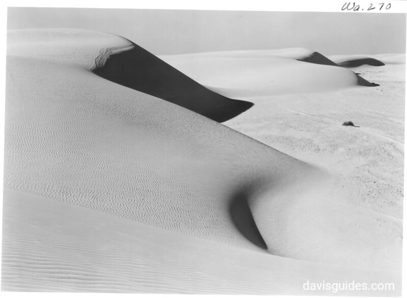 Sand dunes of pure gypsum, leeward slopes. White Sands National Monument, 1940.