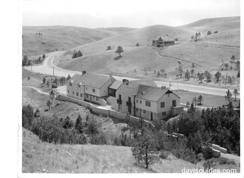 Visitor Center and Administration Building (built by CCC). Wind Cave National Park, 1936.
