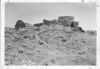 "Ruins of the Main House, dating between 1087 and 1197 AD, and abandoned around 1250 AD. Wupatki means ""Long House"" in the Hopi language. Wupatki National Monument, 1935."