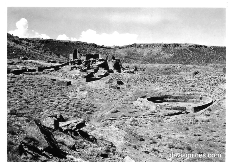 The open circular structure at the main Wupatki Ruin, resembling a Kiva somewhat but lacking in most of the Kiva features. It had no roof. It is the only structure of its kind thus far found in the Southwest. Wupatki National Monument, 1935.