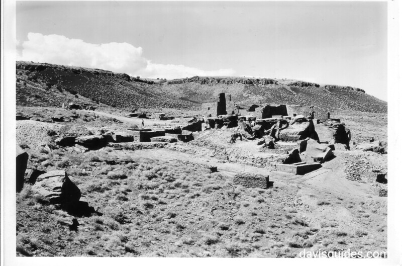 Ruins of the Main House, dating from 1087 to 1197 AD. Site was abandoned around 1250 AD. Wind Cave National Monument, 1935.