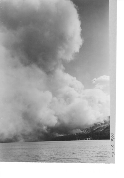 Heart Lake Fire. Yellowstone National Park, 1931.