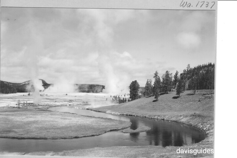 Midway Geyser Basin and Firehole River. Yellowstone National Park, 1941.