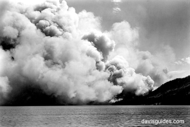Smoke from the Heart Lake Fire. Yellowstone National Park, 1931.