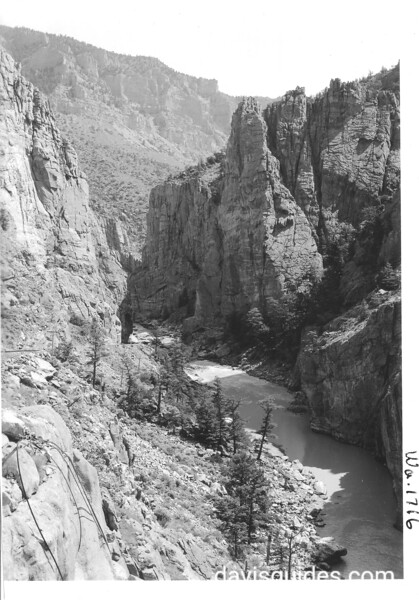 View down Shoshone Canyon. Yellowstone National Park, 1941.