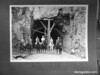 Horseback party at west entrance to Mount Carmel Highway tunnel. Zion National Park, 1929.