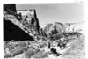 Horseback party on the East Rim Trail. Zion National Park, 1929.