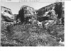 The cliff on west face of Kolob Cliffs north and adjacent to Timber Top. View is east across Timber Creek Bottoms. Note the hanging valleys. Zion National Park, 1935.