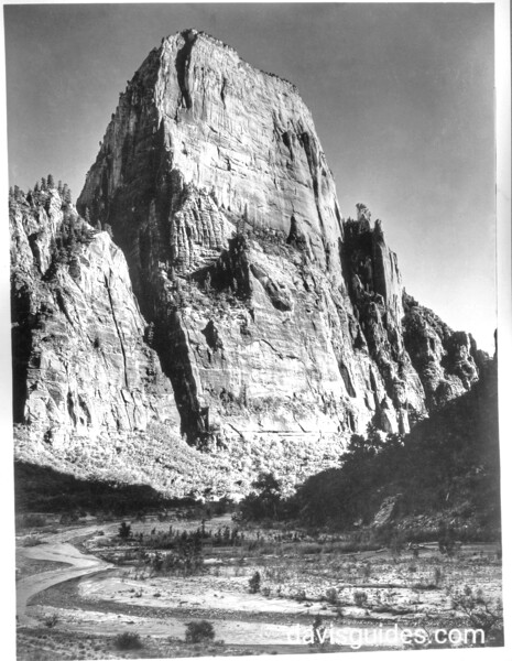 The Great White Throne. Zion National Park, 1929.