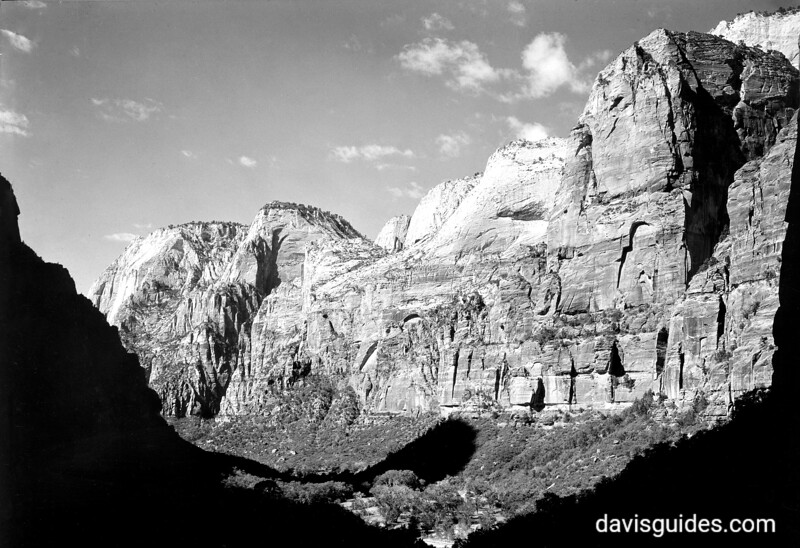 View into Zion Canyon. Zion National Park, undated.