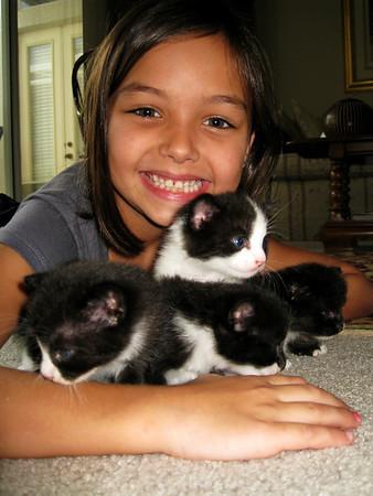 Laney, Ella and kittens
