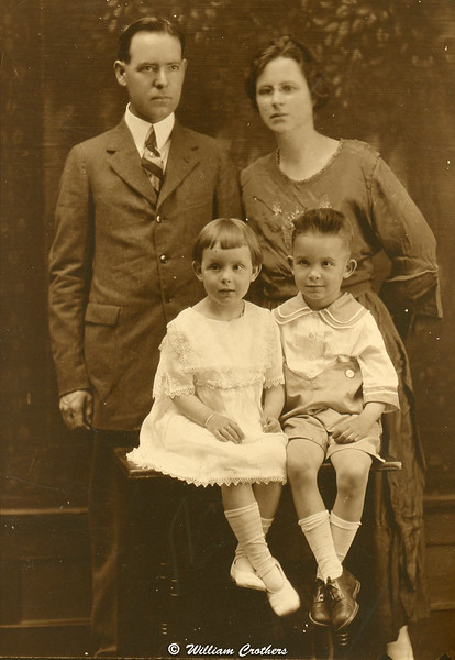 Jesse W Veatch (Papa) and Julia with Sonny and Nell