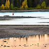 Fisherlady at on Lake Dillon, Heaton Bay. Sunset, September 5, 2010.