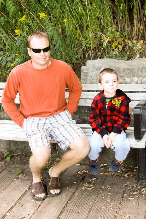 Lasalle Park Sept 18, 2011 Mom Darcy & Nolan