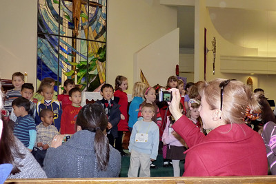 Joey's Sunday School class sings at St. James Church