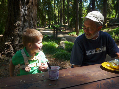 Joey & Uncle Joey on our picnic in the UC Davis Arboretum