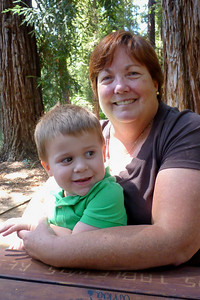 Joey & Grandma on our picnic in the UC Davis Arboretum