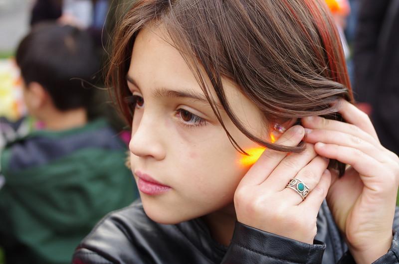 Glow earrings.