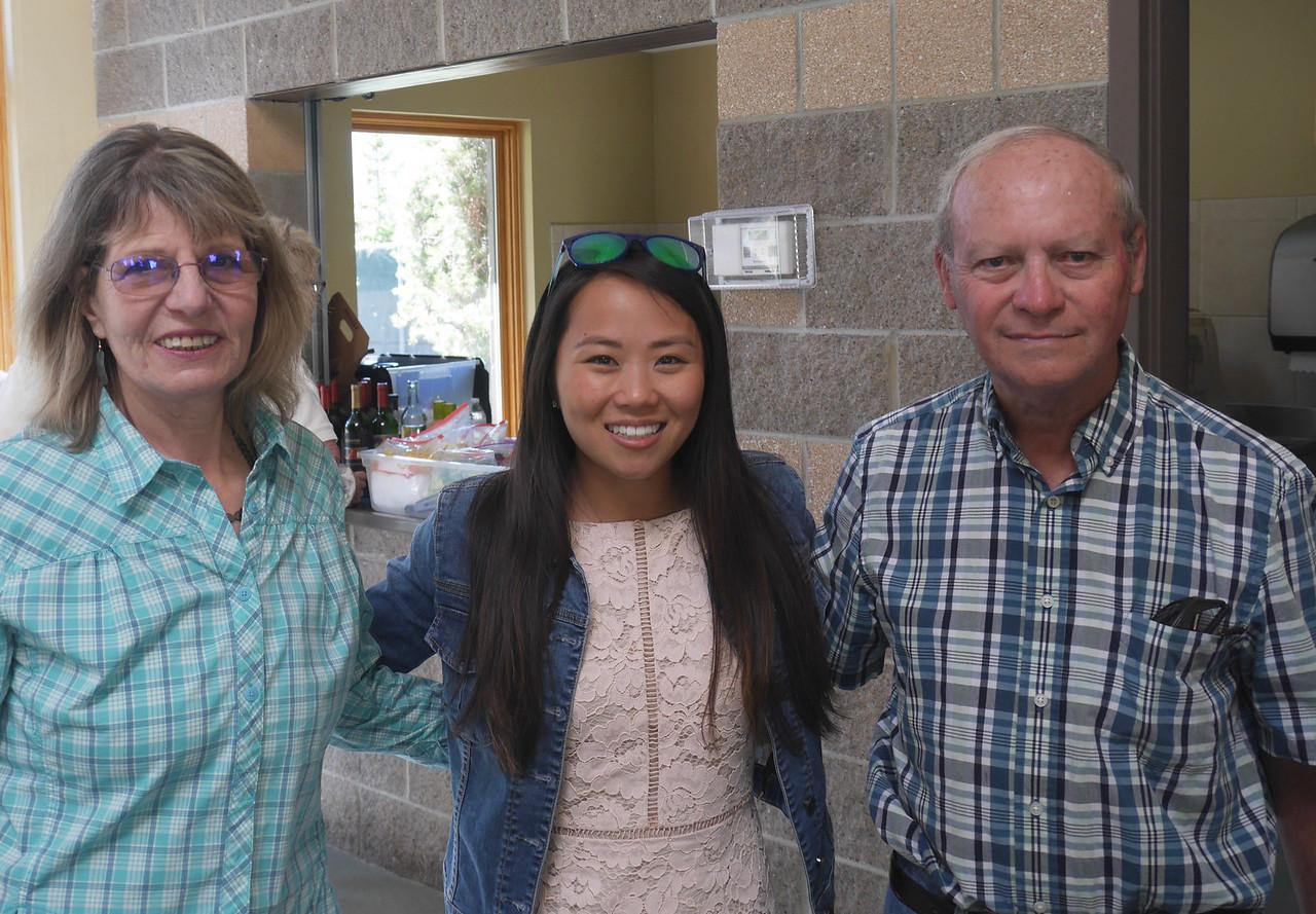 Carter Park BBQ - Rena, Lauren, and Dave.
