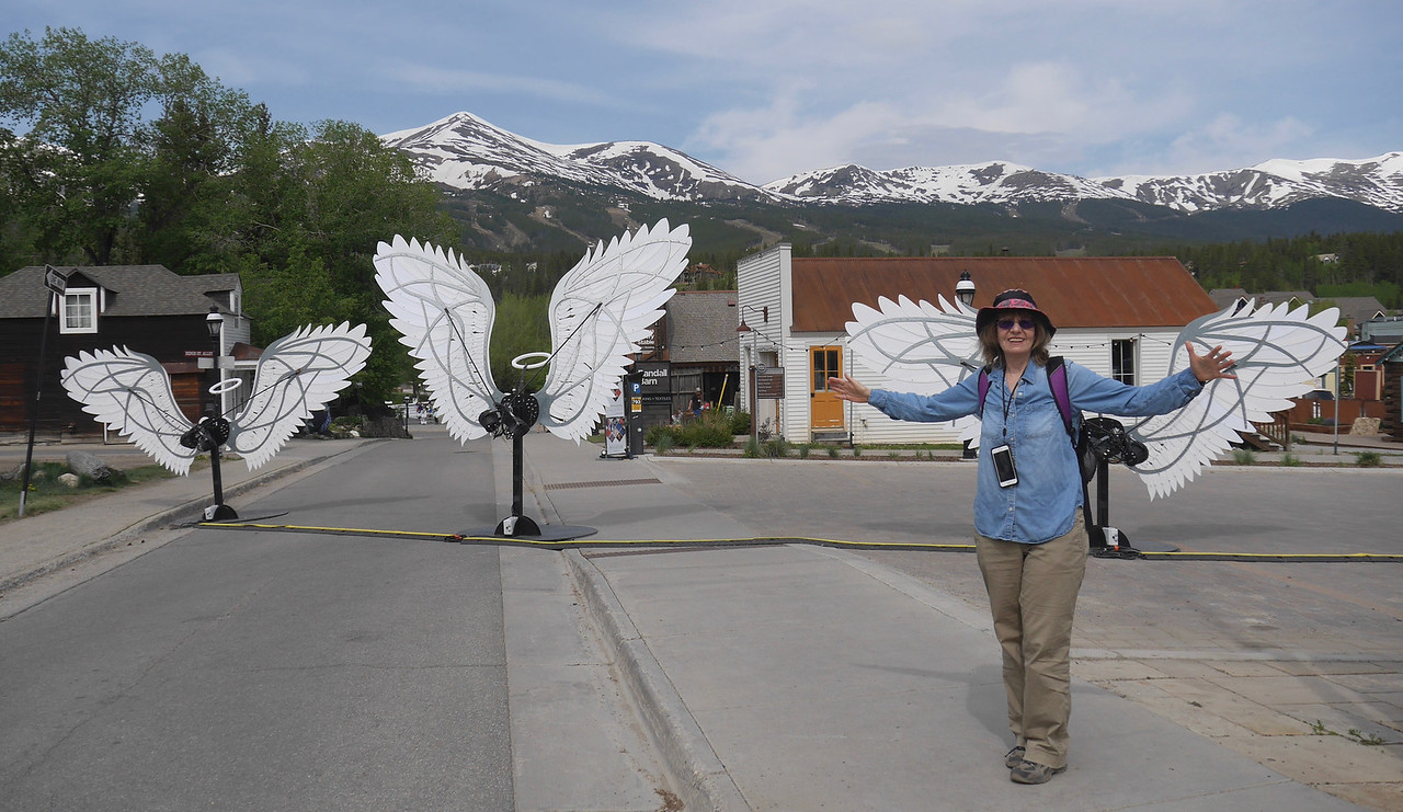 Before the Wedding - Angel Wings in Breckenridge - Rena is an Angel.