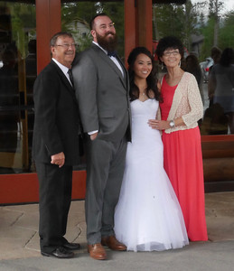 The Reception - Mike, Mitch, Lauren, and Shirley.