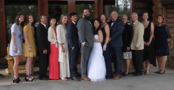 The Reception - A big group of friends and family.