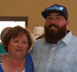 Carter Park BBQ - Mitch and his mother, Shelly.