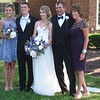 Jamey,  Richie (the groom),  Lauren, Vince, and Vince's ex-wife (and mother of Jamey and Lauren) Lee