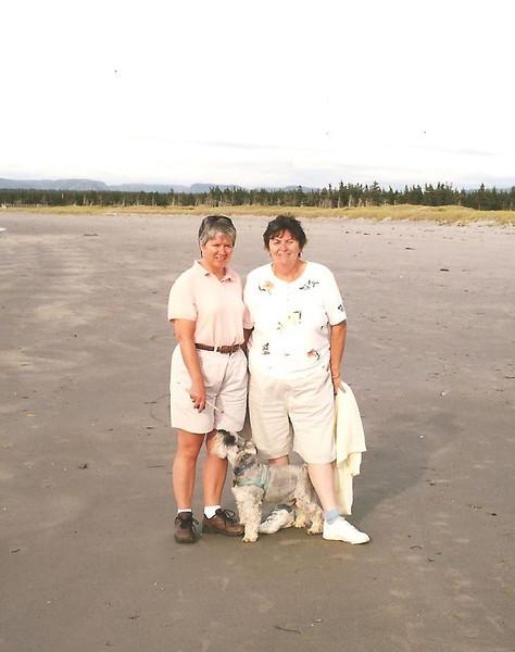 Carol, Ann and Trapper, Shallow Bay Beach
