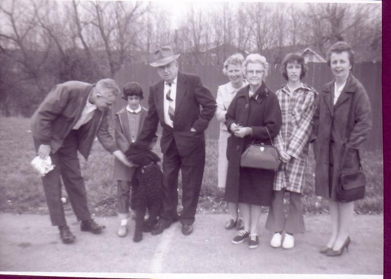 Uncle Paul Ingraham, Laurie, Grandpa Murdo Nicholson, Jean Johnston,  Grandma Annie Nicholson, Beth, and Eleanor Ingraham
