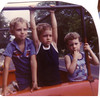 Suffield Firemens' Carnival in Grandpa's Truck:  JP, John J, Matt