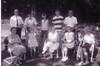Aunt Lil (Lyttle), Susan Lynn Sarle, Wilda, Doris Sarle, Laurie, Jean Johnston--Front Row<br /> Bill Johnston, Doug Johnston, Beth, Steven Sarle, Sherwood Sarle--Back Row<br /> At the Farm