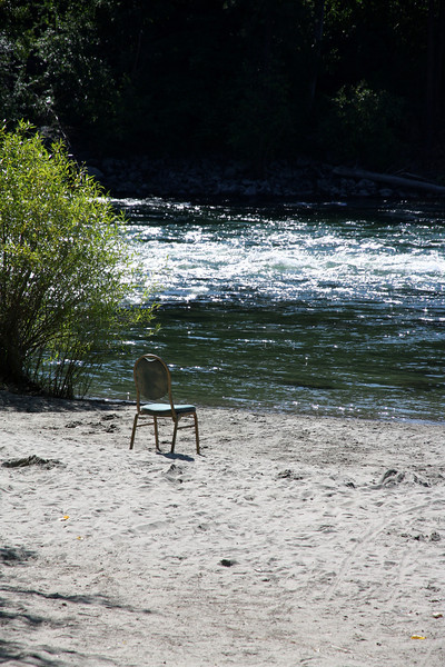 Lonely chair.