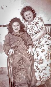 Carmelle a l'hopital de Cartierville 1946