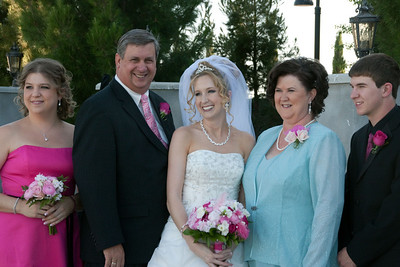 maid of honor, bride's stepfather, mother, usher
