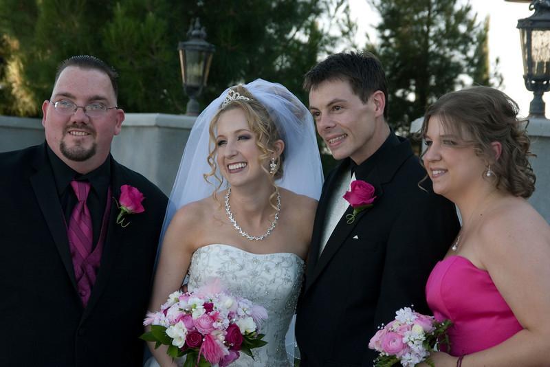 Best man, bride, groom, maid of honor
