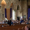 The Graduates being led in to Mass