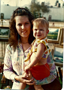 Picture taken when Jen was 16 months old in April 1975.  Len was 26 years old.